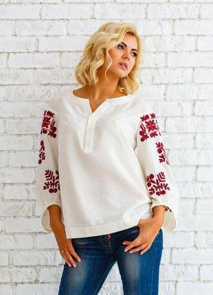 Стильная брендовая блуза-вышиванка от оксаны полонец