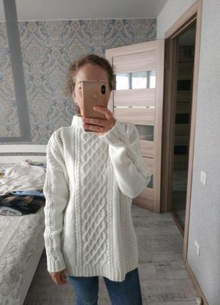 Шикарный теплый свитер с воротником стойкой