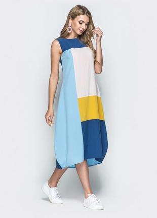 Платье макси мозаика