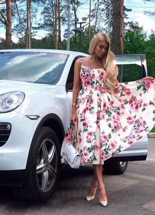 Платье в стиле dolce gabbana! люкс качество!