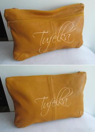 Стильная кожаная сумка-клатч