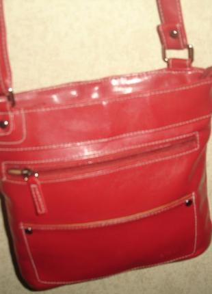 Фирменная dice бордовая летняя сумка кроссободи