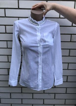 b7e230f6113a758 Женские рубашки со стразами 2019 - купить недорого вещи в интернет ...