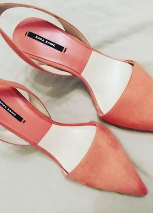Туфли острый носок zara