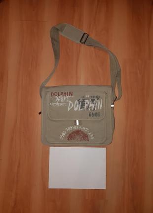 Боьльшая подростковая сумка милитари