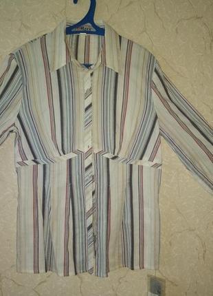 Блуза стрейч с длинным рукавом