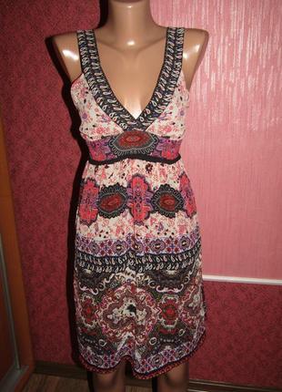 Летнее платье р-р s-36 бренд naf-naf