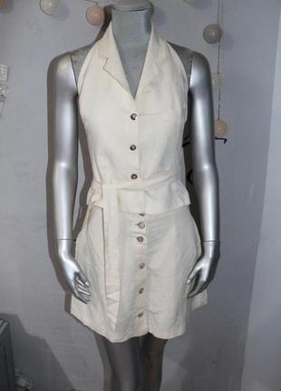 Льняной костюм комплект с юбкой cote a cote