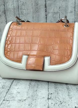 Винтажная кожаная сумка fendi made in italy