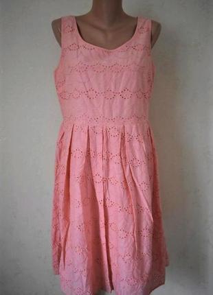 Новое красивое натуральное кружевное платье marks & spencer