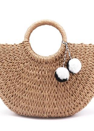 Актуальная соломенная сумка