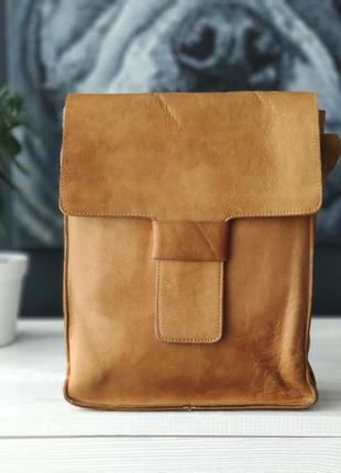 Оригинальная кожаная сумка-планшет!