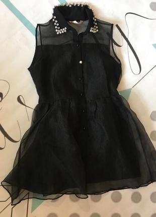 Блуза з органзи