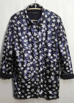 Zara trafaluc collection, куртка рубашка в звезды