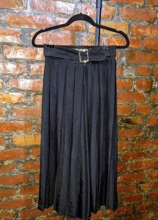 Стильные брюки кюлоты с высокой талией из плиссировки nadia nardi