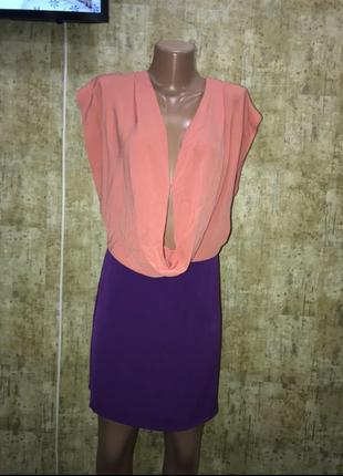 Шелковое платье, персиковое платье, фиолетовое платье