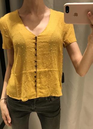 Карамельная блуза на пуговицах reserved