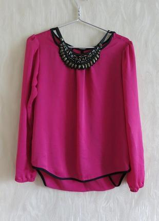 Шикарная шифоновая блуза с длинным рукавом для офиса. летняя кофточка
