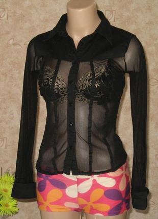 Красивая блуза*прозрачная блузка с длинным рукавом