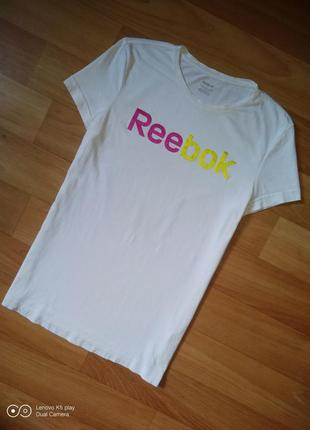 Белоснежная футболка reebok оригинал
