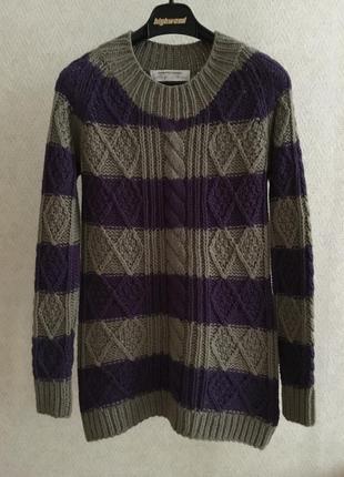 Шерстяной свитер крупная вязка gerard darel