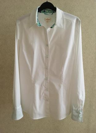Белая приталенная рубашка daniel hechter jeans