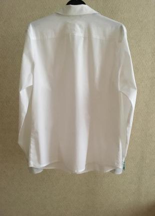 Белая приталенная рубашка daniel hechter jeans2 фото