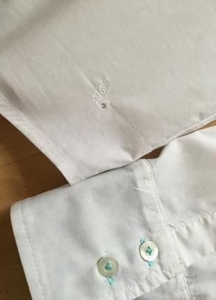 Белая приталенная рубашка daniel hechter jeans4 фото