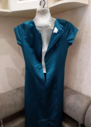 Элегантное  платье с драпировкой, на подкладке изумруд бренд kaliko 10/12р2 фото