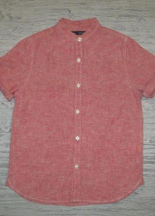 Клевая рубашечка(лен+котон) фирмы некст на 8 лет
