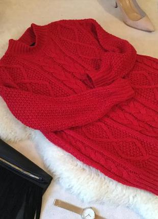 Роскошный красный свитер оверсайз на р. с/м ...🌹❤️💋