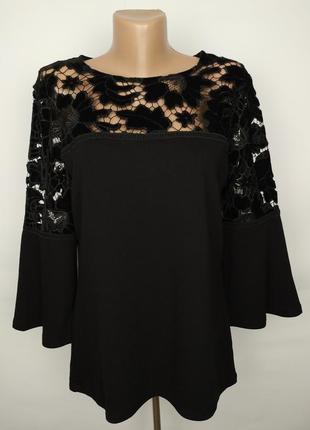 Блуза шикарная новая с кружевной кокеткой uk 14/42/l