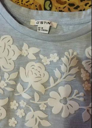 Нежно-голубая футболка ostin