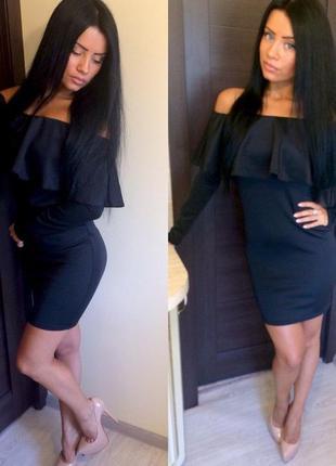 Очень красивое, элегантное платье с воланами! новое! отличное качество