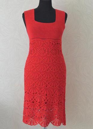 Яркое летнее платье ручной работы
