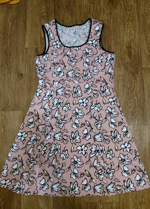 Летнее  платье трапеция а-силуэта