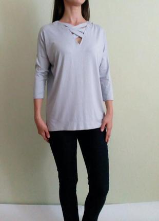 Лёгкая трикотажная блуза 10