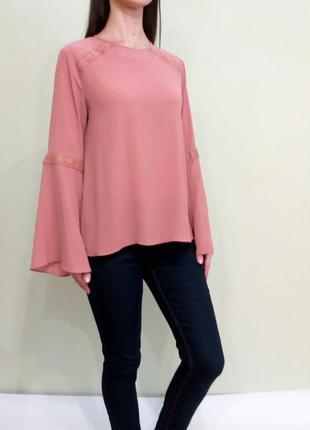 Красивая нежная блуза со свободными рукавами 12