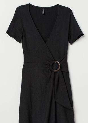 Черное мини платье h&m