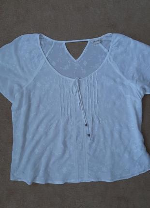 Біла футболка-блуза m&s, р.xl-xxl