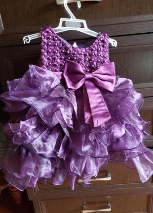 Праздничное платье с пинетками