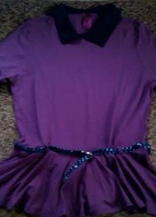 Кофточка блуза с короткими рукавами