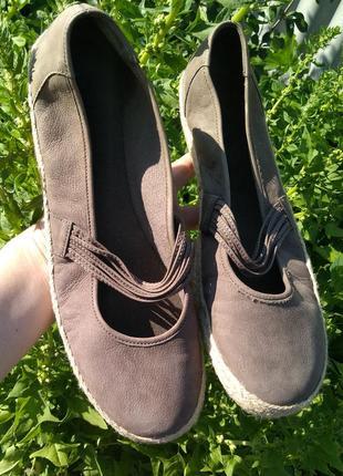 Комфорт туфли эспадрильи gabor р. 7 41 оригинал натуральная кожа новые сток