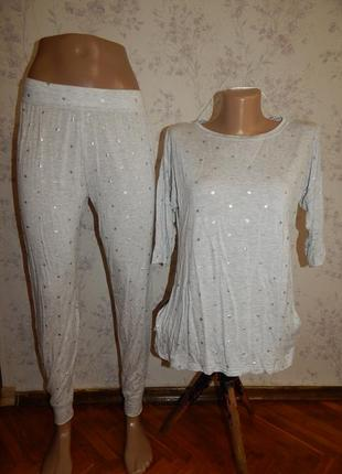 F&f пижама вискозная футболка со штанишками р8-10