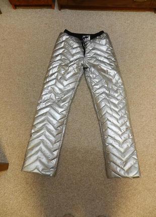 ✅тёплые зимние штаны серебро холофайбер размер м