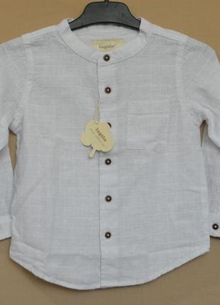 Рубашка для мальчика лен lupilu германия размер 2 года