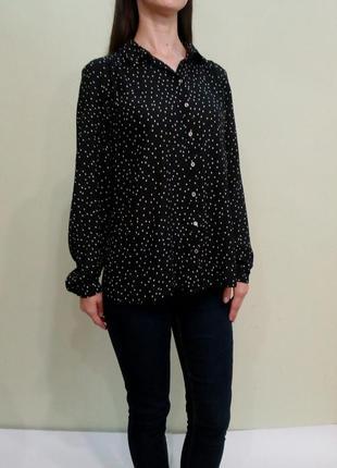 Лёгкая блуза в горошек