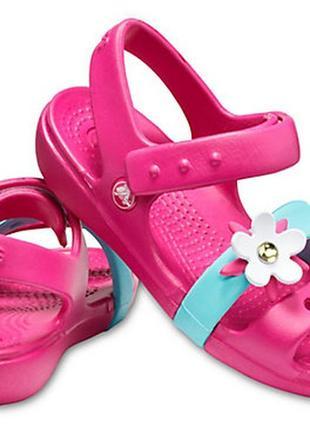 Сандали крокс crocs kid's keeley charm sandal с4 (19-20)