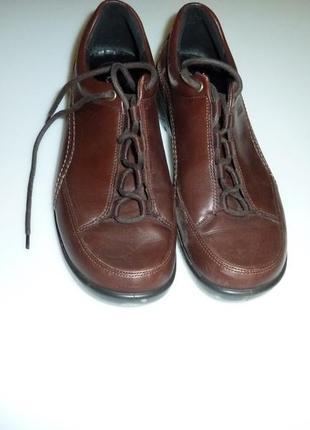 Кожаные туфли мокасины ботинки ecco, р 39