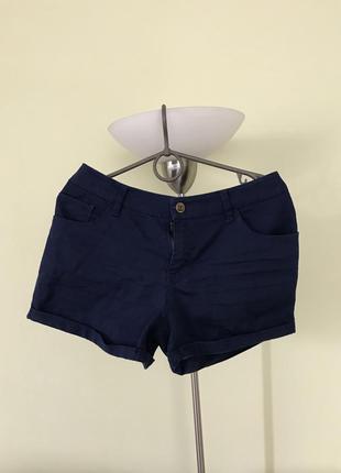 Летние темно-синие джинсовые шорты